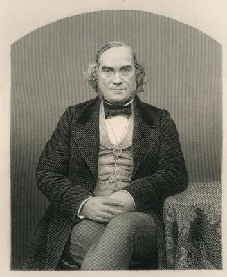 James Wilson, engraved by D.J. Pound from a photograph, from 'The Drawing-Room of Eminent Personages, Volume 2', 1860
