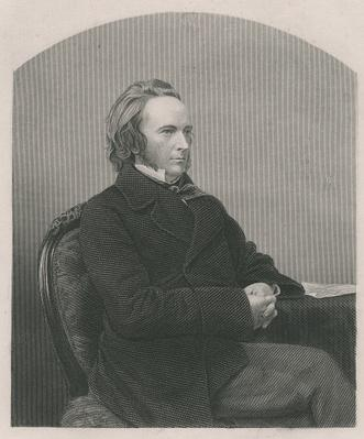 George John Douglas Campbell, 8th Duke of Argyll, engraved by D.J. Pound from a photograph, from 'The Drawing-Room of Eminent Personages, Volume 2', published in London, 1860