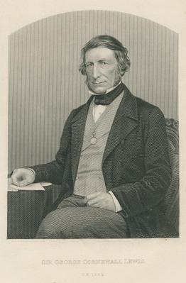 Sir George Cornewall Lewis, engraved by D.J. Pound from a photograph, from 'The Drawing-Room of Eminent Personages, Volume 2', published in London, 1860