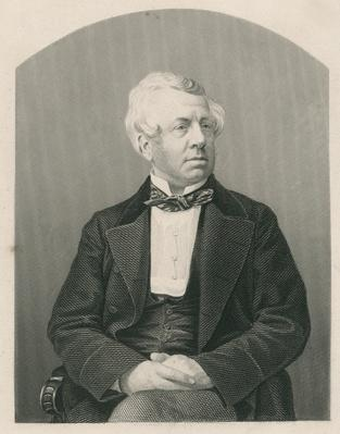George William Frederick Howard, engraved by D.J. Pound from a photograph, from 'The Drawing-Room of Eminent Personages, Volume 2', published in London, 1860