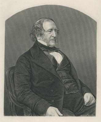 John Campbell, 1st Baron Campbell of St. Andrews, engraved by D.J. Pound from a photograph, from 'The Drawing-Room of Eminent Personages, Volume 2', 1860