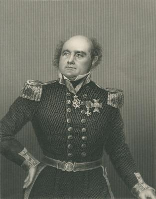 Sir John Franklin engraved by D.J. Pound from a photograph, from 'The Drawing-Room of Eminent Personages, Volume 2', published in London, 1860