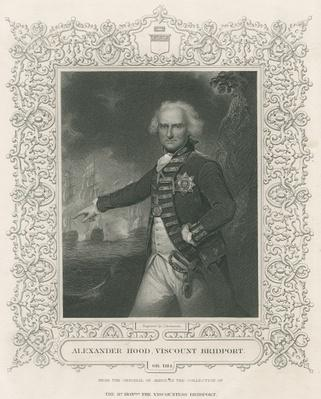Alexander Hood, 1st Viscount Bridport, illustration from 'England's Battles by Sea and Land' by Lieut. Col. Williams, c.1890