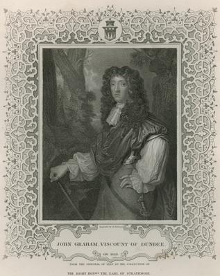 John Graham of Claverhouse, 1st Viscount of Dundee, from 'Lodge's British Portraits', 1823