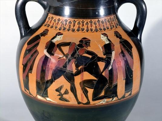 Theseus Fighting the Minotaur, detail from an Attic black-figure amphora