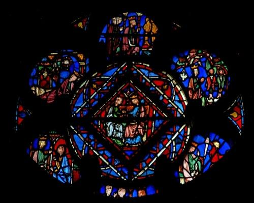 Rosette of window 14, 1246-48