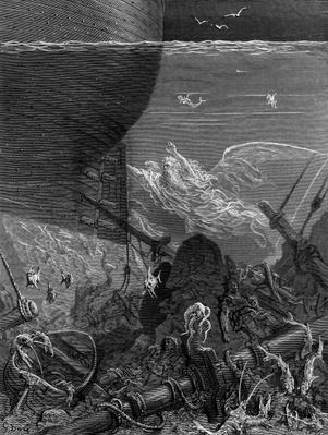 The Spirit that had followed the ship from the Antartic, scene from 'The Rime of the Ancient Mariner' by S.T. Coleridge, published by Harper & Brothers, New York, 1876
