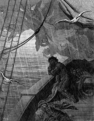 The rain begins to fall, scene from 'The Rime of the Ancient Mariner' by S.T. Coleridge, published by Harper & Brothers, New York, 1876