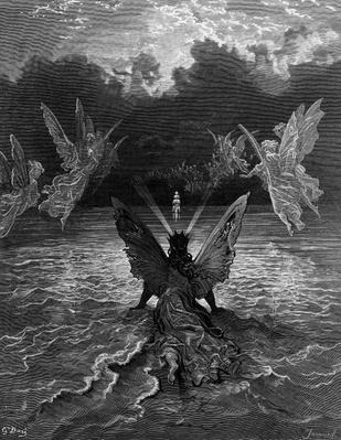 The ship continues to sail miraculously, moved by a troupe of angelic spirits, scene from 'The Rime of the Ancient Mariner' by S.T. Coleridge, published by Harper & Brothers, New York, 1876