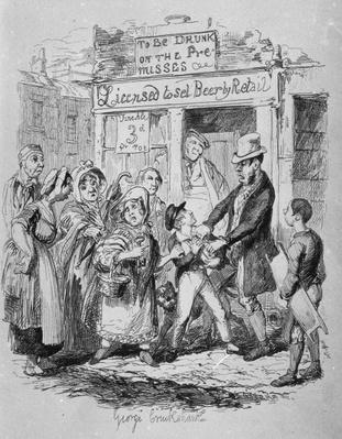 Oliver claimed by his affectionate friends, from 'The Adventures of Oliver Twist' by Charles Dickens