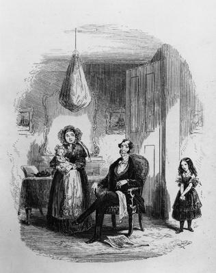 The Dombey Family, illustration from 'Dombey and Son' by Charles Dickens