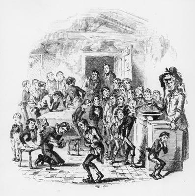 The internal economy of Dotheboys Hall, illustration from `Nicholas Nickleby' by Charles Dickens
