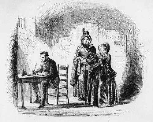 Mrs. Bagnet returns from her expedition, illustration from 'Bleak House' by Charles Dickens