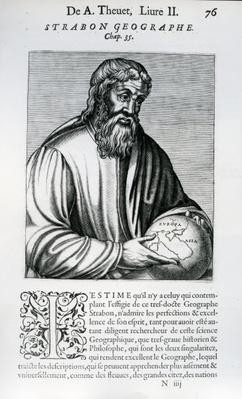 Strabo, illustration from Andre Thevet's 'Des vrais pourtaits et vies des hommes illustres', 1584