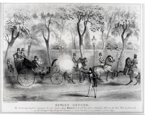 Edward Oxford's attempt to assassinate Queen Victoria, 10th June 1840
