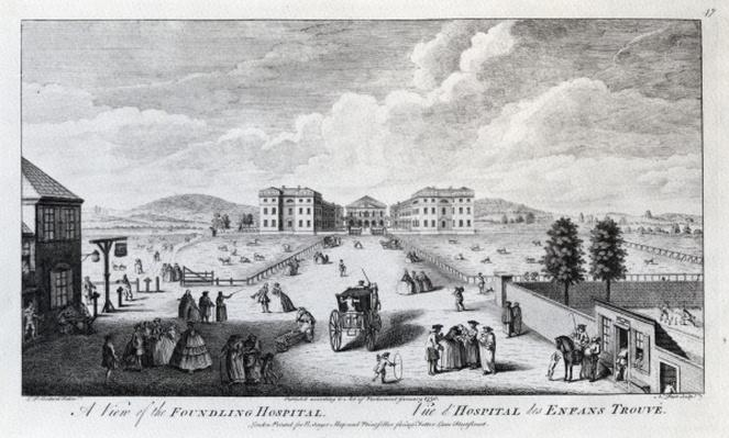 A View of the Foundling Hospital, engraved by Nathaniel Parr, 1750