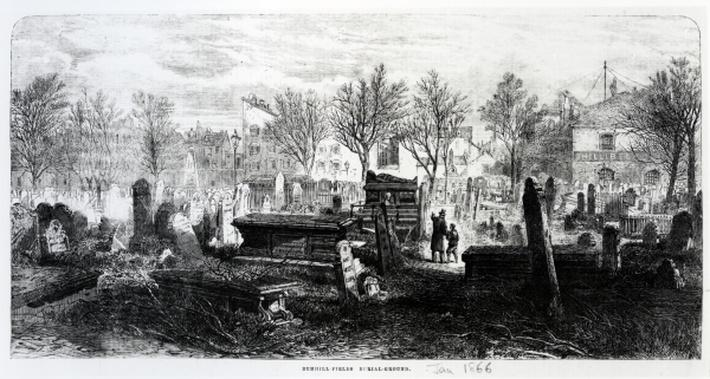 Bunhill Fields, January 1866
