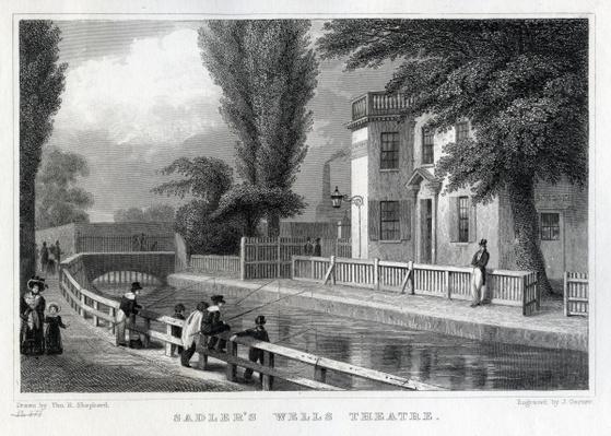 Sadler's Wells Theatre, engraved by J. Garner, 1830