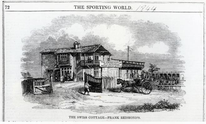The Swiss Cottage, illustration from 'The Sporting World', 1844