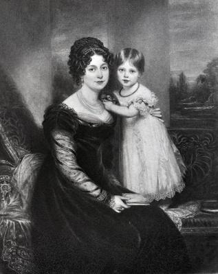 Queen Victoria as an infant with her mother the Duchess of Kent, c.1822