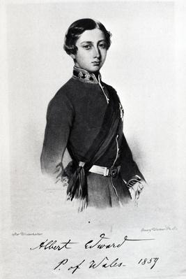 Edward, Prince of Wales, engraved by Emery Walker