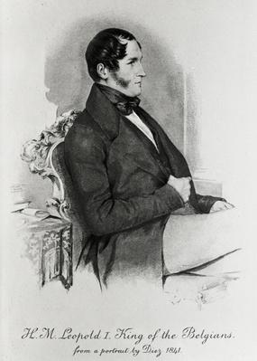 Leopold I, King of the Belgians, after a portrait of 1840