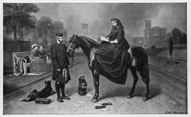 Queen Victoria at Osborne, after the painting of 1865