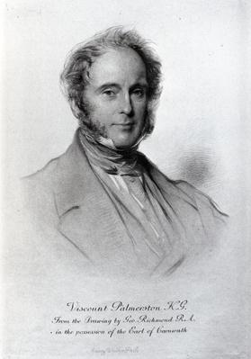 Viscount Palmerston, engraved by Emery Walker