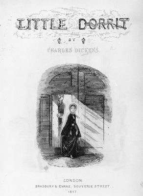 Frontispiece to 'Little Dorrit' by Charles Dickens, 1857