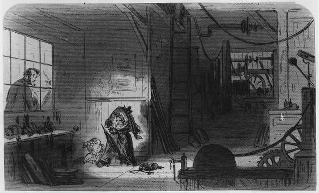 Visitors at the Works, illustration from 'Little Dorrit' by Charles Dickens, 1857