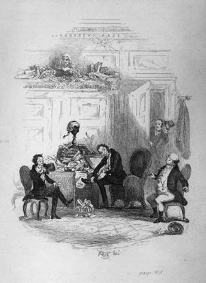 The First Interview with Mr. Serjeant Snubbin, illustration from 'The Pickwick Papers' by Charles Darwin, 1837