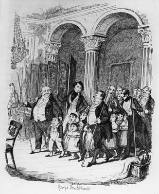 Public Dinners, illustration from 'Sketches by Boz', 1836