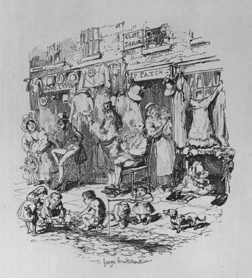 Monmouth Street, illustration from 'Sketches by Boz' by Charles Dickens, 1836