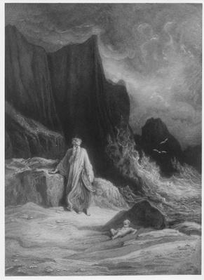The Finding of King Arthur, illustration from 'Idylls of the King' by Alfred Tennyson