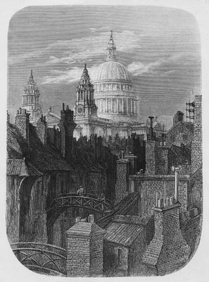 St. Paul's Cathedral and the slums, from 'London, A Pilgrimage', 1872