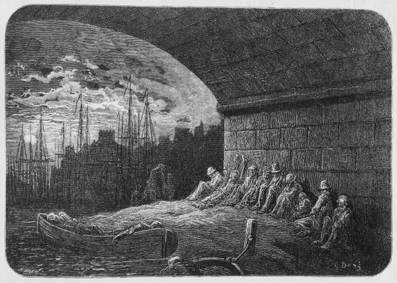 Under the Arches, illustration from 'London, A Pilgrimage', 1872