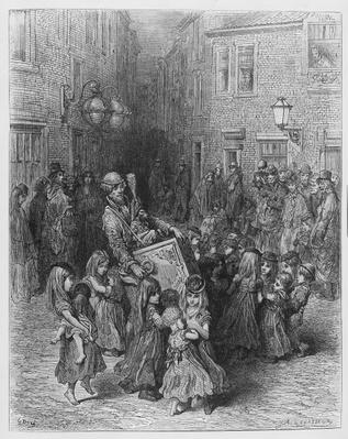 The Organ in the Court, illustration from 'London, a Pilgrimage', 1872