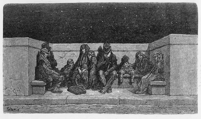 Asleep under the Stars, illustration from 'London, a Pilgrimage', 1872