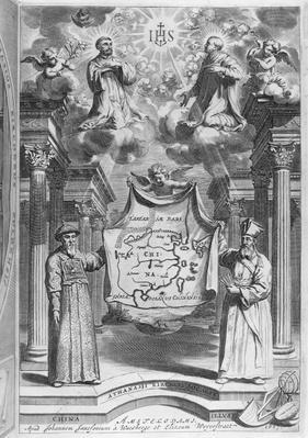 Frontispiece to 'China Monumentis' by Athanasius Kircher, 1667