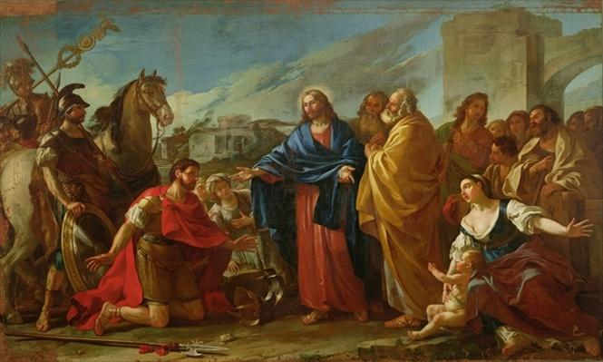 The Centurion Kneeling at the Feet of Christ or, Jesus Healing the Son of an Officer, 1752