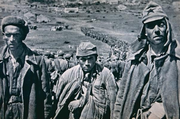 Russian POWs captured by the Germans, 1941