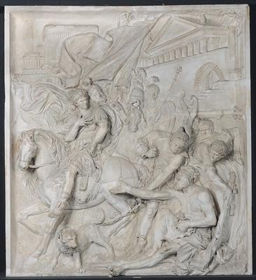 Alexander the Great and Diogenes, completed in 1693