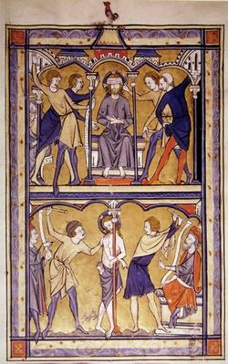 Page from a psalter, c.1270