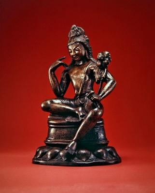 Padmapani Lokeshvara seated in meditation, first half of the 7th century