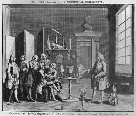 The First Lecture in Experimental Philosophy, engraved for the 'Universal Magazine', 1748