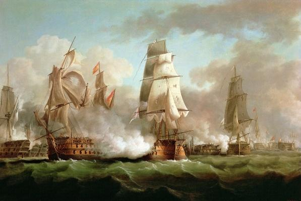 'Neptune' engaged, Trafalgar, 1805