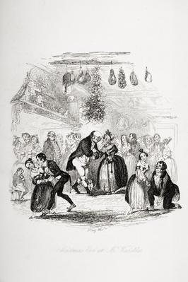 Christmas Eve at Mr. Wardle's, illustration from `The Pickwick Papers' by Charles Dickens