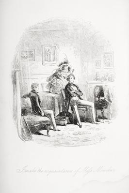 I make the acquaintance of Miss. Mowcher, illustration from 'David Copperfield' by Charles Dickens