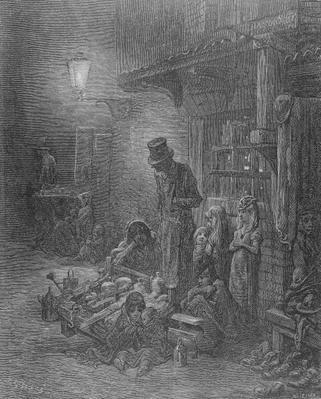 Wentworth Street, Whitechapel, from 'London: A Pilgrimage' by William Blanchard Jerrold
