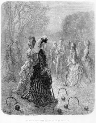 A Game of Croquet, from the 'London at Play' chapter of 'London, a Pilgrimage', written by William Blanchard Jerrold